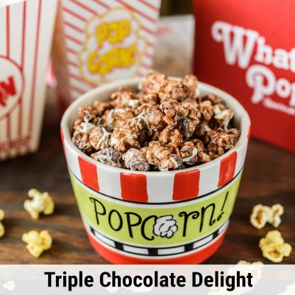 Triple Chocolate Delight popcorn