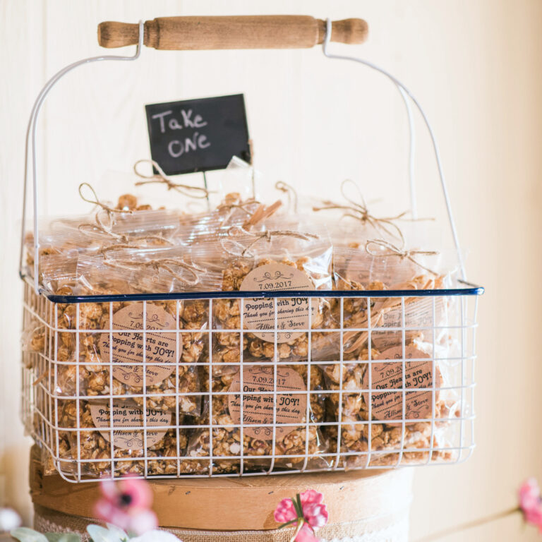 Basket of Wedding Favors